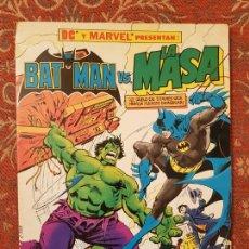 Cómics: BATMAN VS LA MASA * ( INCREIBLE HULK ) * TAMAÑO GIGANTE 0.34 X 0.26 * ZINCO .VER DETALLES. Lote 211692533