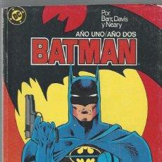 Comics: BATMAN AÑO UNO Y AÑO DOS COMPLETOS EN UN RETAPADO - BUEN ESTADO. Lote 212065315