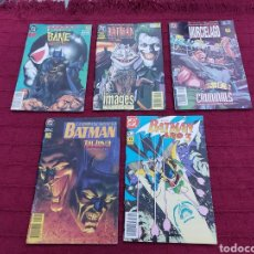 Cómics: BATMAN LOTE DE COMIC (5 EN TOTAL) -THE JOKER - AÑO 3 -LEYENDAS DEL MURCIÉLAGO-EL REGRESO DE BANE. Lote 212417681