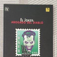 Fumetti: EL JOKER. ABOGADO DEL DIABLO DE CHUCK DIXON. NUMERO ÚNICO. ZINCO 1996. Lote 213806782