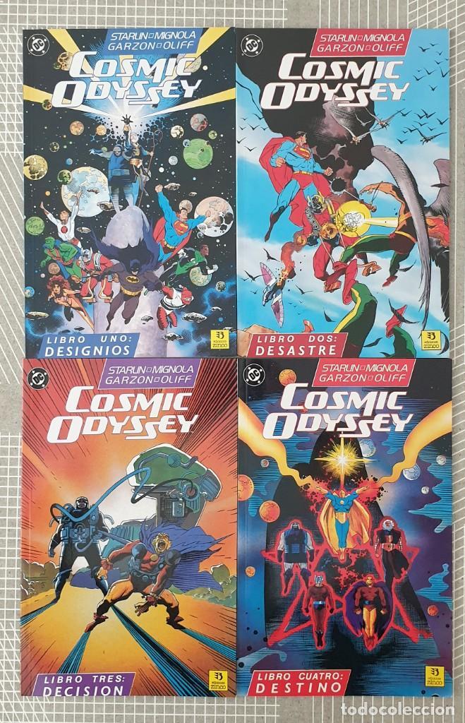 COSMIC ODYSSEY DE JIM STARLIN & MIKE MIGNOLA. C.COMPLETA DE 4 TOMOS ZINCO 1989 (Tebeos y Comics - Zinco - Prestiges y Tomos)
