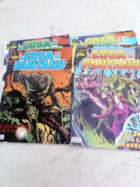 LA COSA DEL PANTANO 1ª SERIE Nº 1 AL 9 (LA COLECCIÓN ES DE 10 CÓMICS Y FALTA EL Nº 10 ) (Tebeos y Comics - Zinco - Cosa del Pantano)