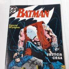 Cómics: BATMAN. JUSTICIA CIEGA. NUM 1. Lote 214084877