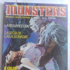 Cómics: MONSTERS - RELATOS GRÁFICOS PARA ADULTOS - NÚMERO 21. Lote 214331553