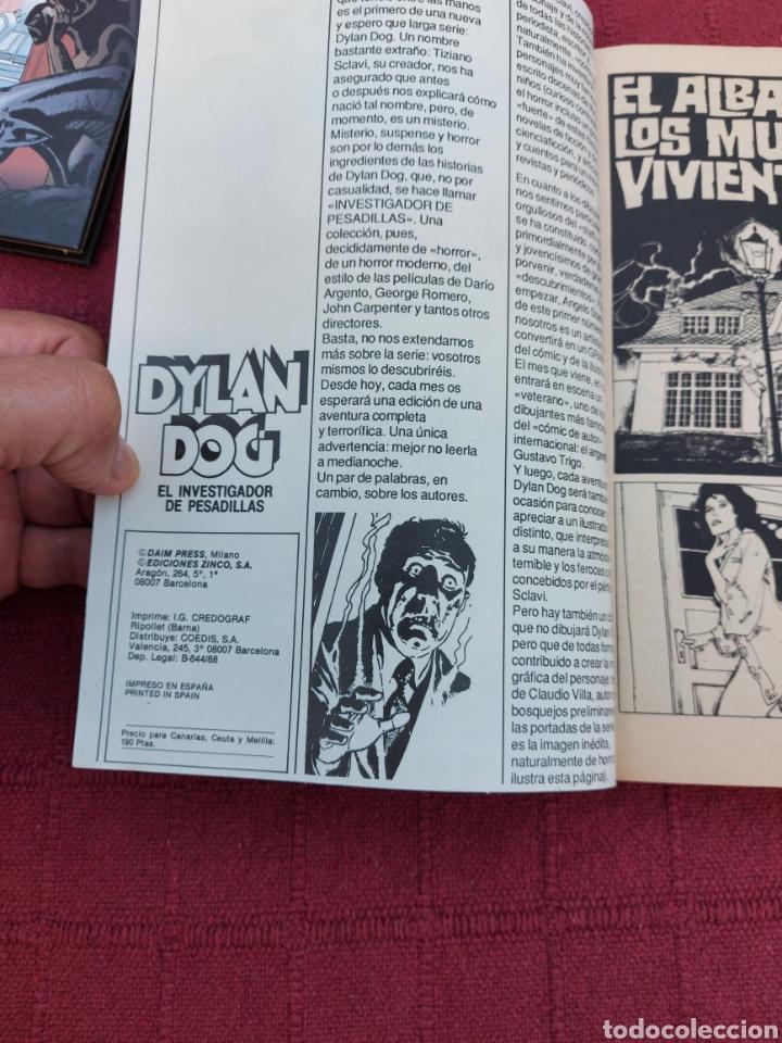 Cómics: DYLAN DOG LOTE DE DOS COMICS UN RETAPADO TOMO 1 DE ZINCO, Y LA HISTORIA DE DYLAN DOG DE ALETA - Foto 13 - 215193385