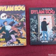 Cómics: DYLAN DOG LOTE DE DOS COMICS UN RETAPADO TOMO 1 DE ZINCO, Y LA HISTORIA DE DYLAN DOG DE ALETA. Lote 215193385