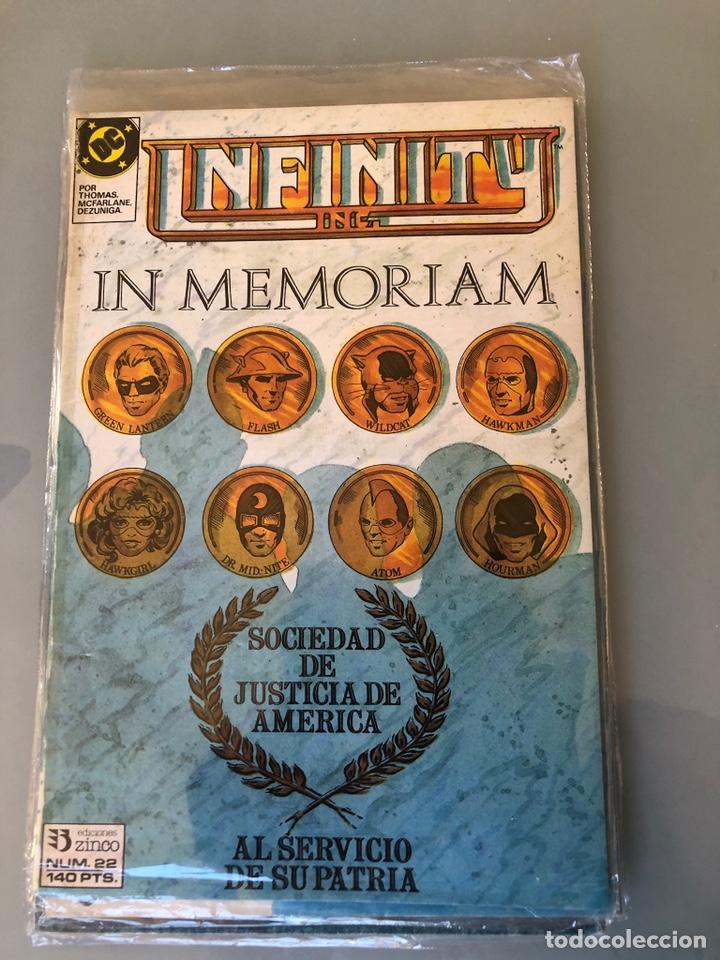INFINITY INC. NÚM. 22. ED. ZINCO. SACADO DE RETAPADO. (Tebeos y Comics - Zinco - Infinity Inc)