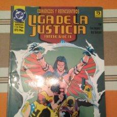 Cómics: LIGA DE LA JUSTICIA AMERICA - COMIENZOS Y REENCUENTROS - ZINCO DC COMIC. Lote 215411832