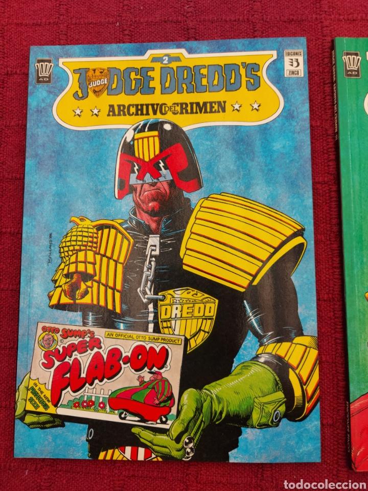 Cómics: JUDGE DREDDS ARCHIVO DEL CRIMEN NUMEROS 2 Y 3 EDICIONES ZINCO- 2000 AD - Foto 4 - 215799473