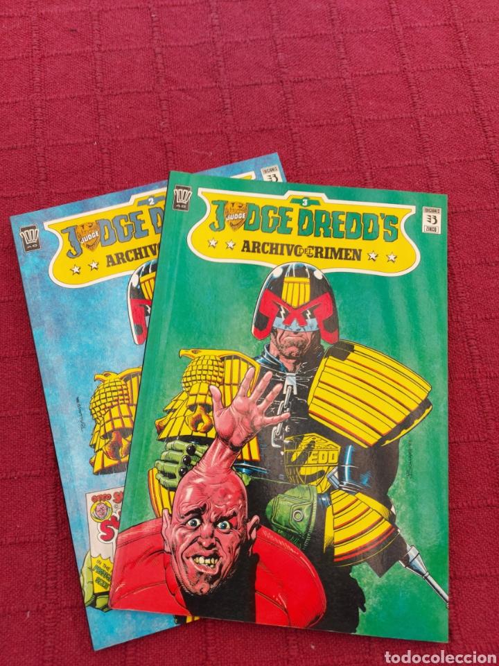 JUDGE DREDD'S ARCHIVO DEL CRIMEN NUMEROS 2 Y 3 EDICIONES ZINCO- 2000 AD (Tebeos y Comics - Zinco - Otros)