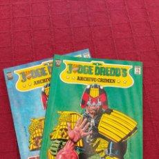 Cómics: JUDGE DREDD'S ARCHIVO DEL CRIMEN NUMEROS 2 Y 3 EDICIONES ZINCO- 2000 AD. Lote 215799473