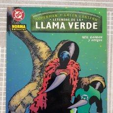 Cómics: SUPERMAN / GREEN LANTERN. LEYENDAS DE LA LLAMA VERDE DE NEIL GAIMAN. NORMA 2002. Lote 216703802