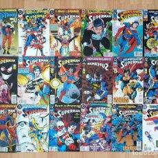 Cómics: SUPERMAN V3 COLECCIÓN COMPLETA DE 36 COMICS. EDICIONES ZINCO 1993. Lote 217095222