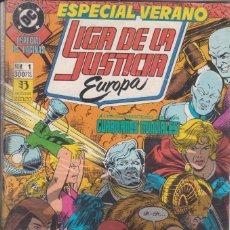 Cómics: CÓMIC DC LIGA DE LA JUSTICIA EUROPA Nº 1 ESPECIAL 64 PGS. ED, ZINCO. Lote 217176560