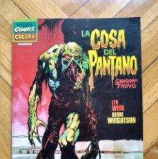 Comics: LA COSA DEL PANTANO: ÁLBUM HISTORIA DE LOS COMICS - CREEPY - SWAMP THING DE WEIN & WRIGHTSON. Lote 217875182