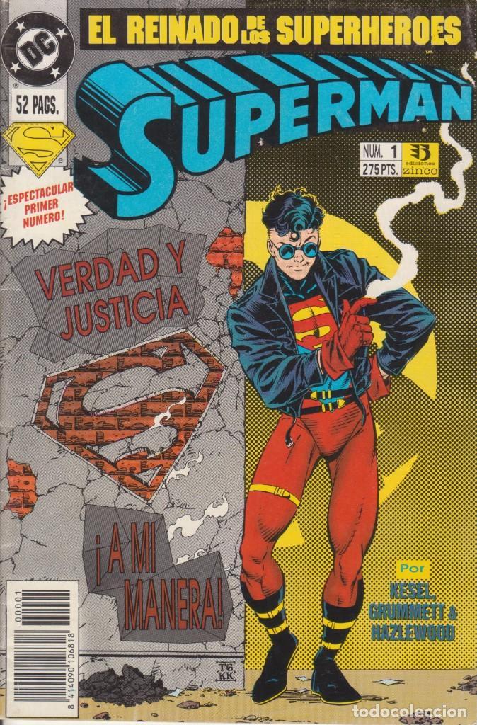 CÓMIC DC SUPERMAN - EL REINADO DE LOS SUPERHEROES Nº 1 ED. ZINCO,52 PGS. (Tebeos y Comics - Zinco - Superman)
