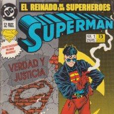 Cómics: CÓMIC DC SUPERMAN - EL REINADO DE LOS SUPERHEROES Nº 1 ED. ZINCO,52 PGS.. Lote 217956362
