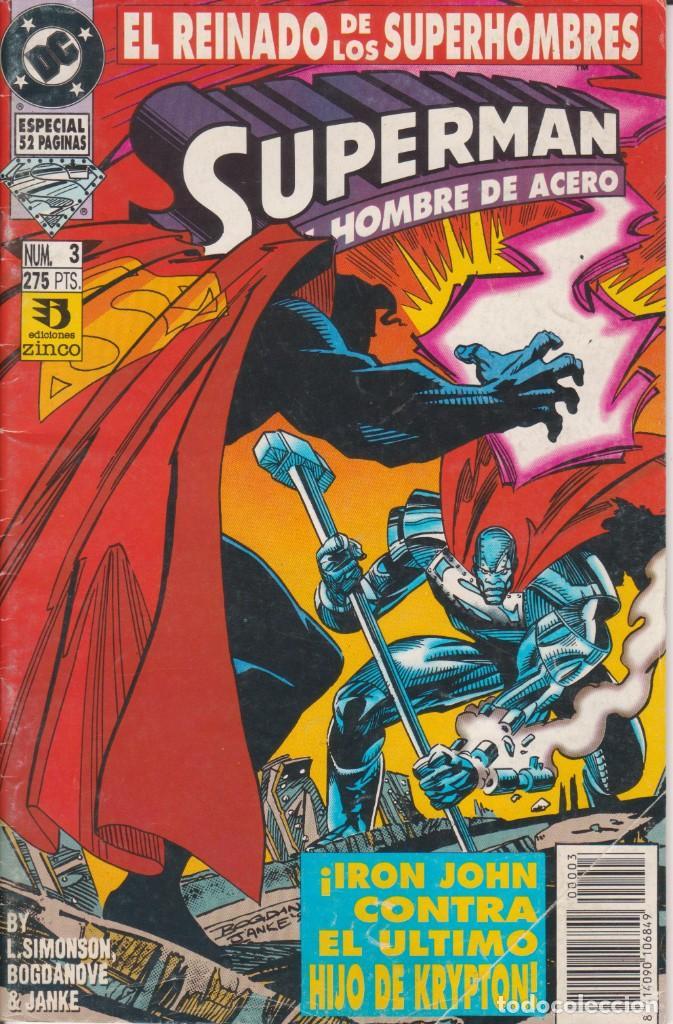 CÓMIC DC SUPERMAN - EL REINADO DE LOS SUPERHEROES Nº 3 ED. ZINCO. 52 PGS. (Tebeos y Comics - Zinco - Superman)