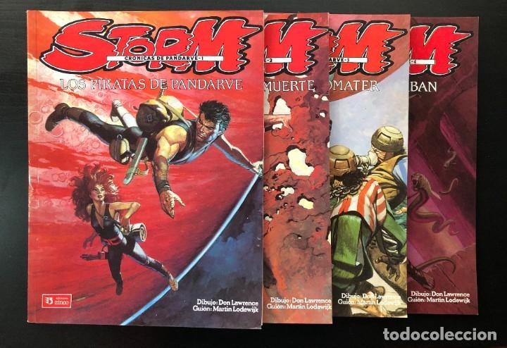 STORM CRONICAS DE PANDARVE 4 NÚMEROS COLECCION COMPLETA !! EDICIONES ZINCO EXCELENTE (Tebeos y Comics - Zinco - Otros)