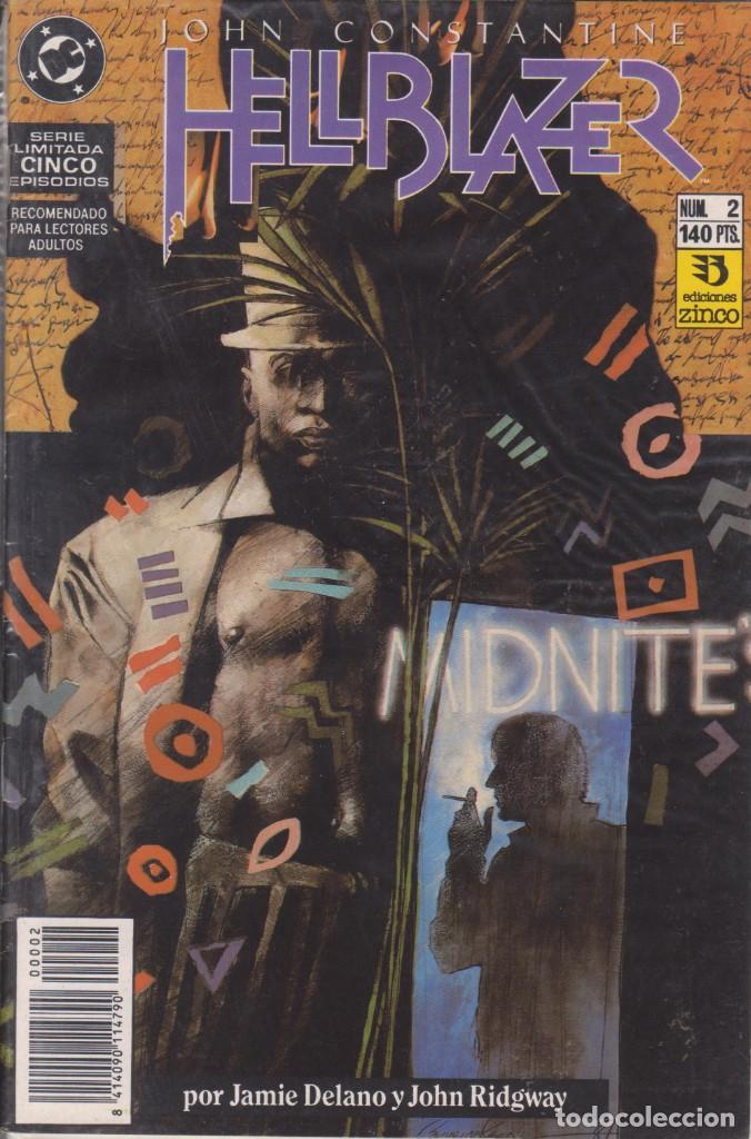 CÓMIC DC HELLBLAZER Nº 2 ( DE 5 ) POR J.DELANO Y J.RIDGWAY - ED. ZINCO. (Tebeos y Comics - Zinco - Otros)