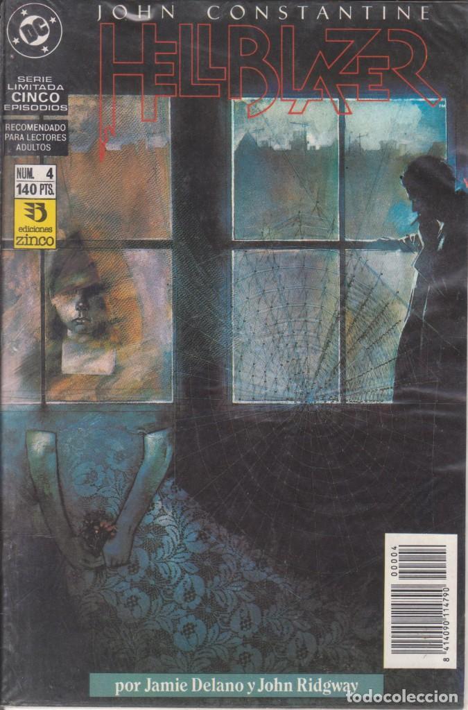 CÓMIC DC HELLBLAZER Nº 4 ( DE 5 ) POR J.DELANO Y J.RIDGWAY - ED. ZINCO. (Tebeos y Comics - Zinco - Otros)