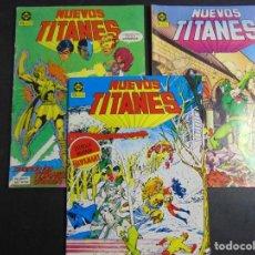 Cómics: LOTE 3 NUEVOS TITANES Nº 11, 18 Y 19. Lote 218675583