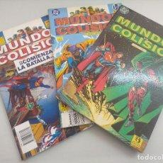 Fumetti: MUNDOS EN COLISION/COLECCION 3 NUMEROS DC COMICS.. Lote 218718083