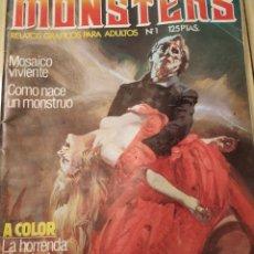Cómics: MONSTERS, RELATOS PARA ADULTOS, 1981. Lote 218726252