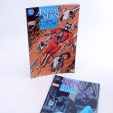 Cómics: ANIMAL MAN CARNE Y SANGRE LOTE LIBRO UNO Y DOS (JAMIE DELANO / STEVE PUGH) ZINCO, 1993. OFRT. Lote 218858823