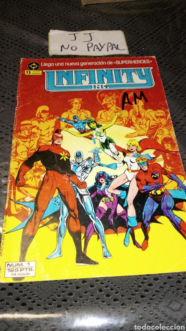 EDICIONES ZINCO DC INFINITY 1 VER FOTOS PINTADA A ROTU EN PORTADA (Tebeos y Comics - Zinco - Infinity Inc)