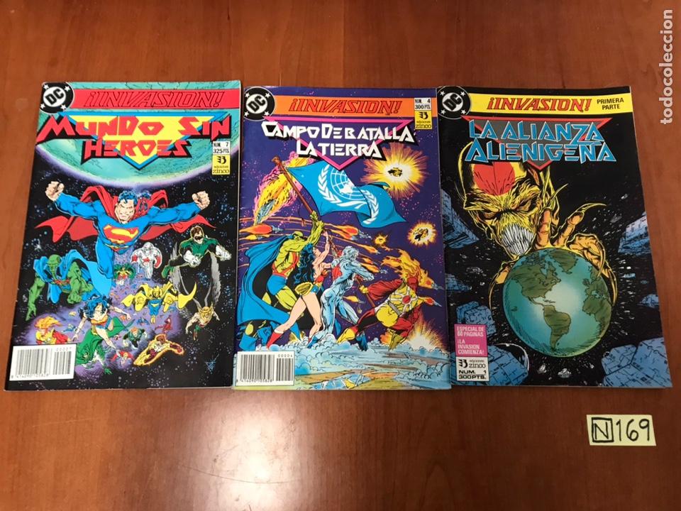 INVASION DC - NROS 1, 7 Y 4 (Tebeos y Comics - Zinco - Otros)