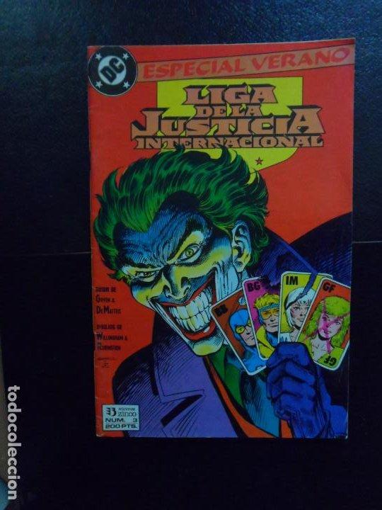 LIGA JUSTICIA INTERNACIONAL Nº 3 ESPECIAL VERANO EDICIONES ZINCO (Tebeos y Comics - Zinco - Liga de la Justicia)