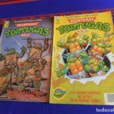 Cómics: ZINCO AVENTURAS TORTUGAS NINJA NºS 1 Y 5. 1990. 150 PTS. BUEN ESTADO Y RAROS.. Lote 220838987
