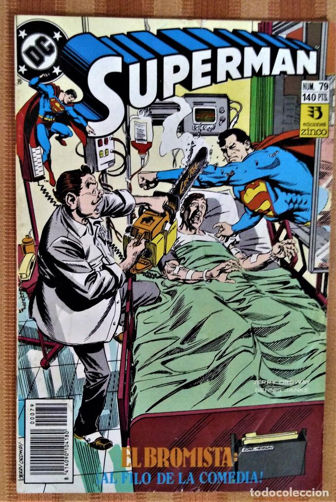 SUPERMAN - NUM. 79 - EL BROMISTA: ¡AL FILO DE LA COMEDIA! - EDICIONES ZINCO - 1989 (Tebeos y Comics - Zinco - Superman)