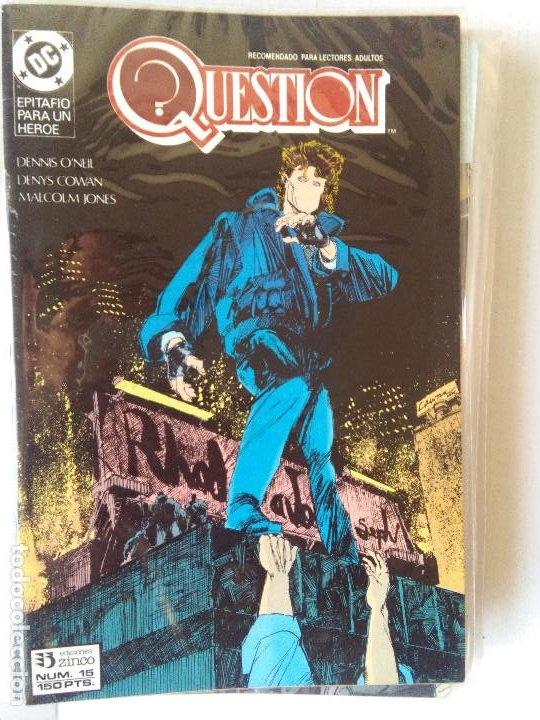 Cómics: QUESTION COMPLETA (1988-1991) 36 NUMEROS (FALTANDO EL 6-17-29) - Foto 16 - 221795796