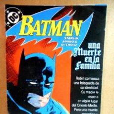 Cómics: BATMAN : UNA MUERTE EN LA FAMILIA 1 ( ZINCO ). Lote 221892967