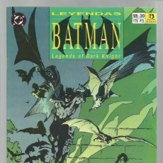 Cómics: LEYENDAS DE BATMAN 30, 1990, ZINCO, MUY BUEN ESTADO. Lote 221984118
