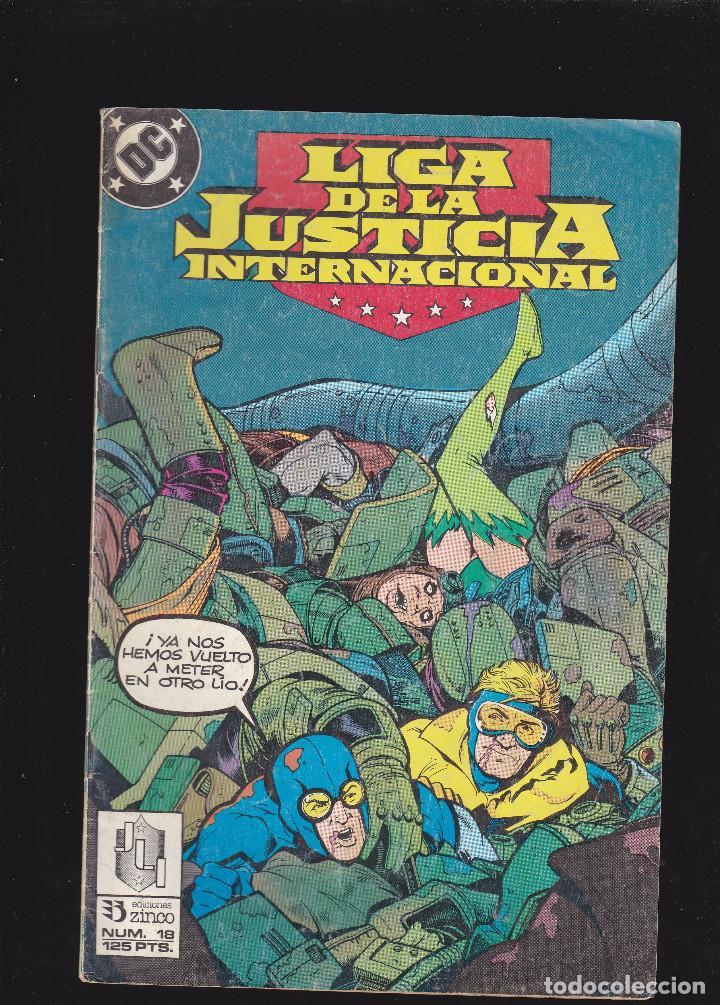 LIGA DE LA JUSTICIA INTERNACIONAL - Nº 18 DE 54 - 1988 - ZINCO S.A - (Tebeos y Comics - Zinco - Otros)