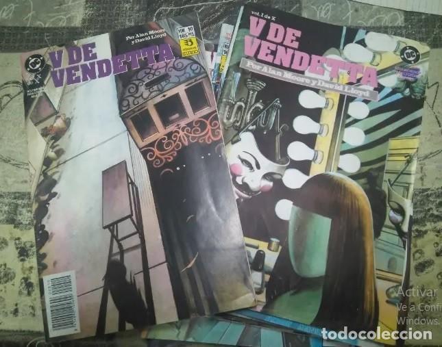 V DE VENDETTA COLECCIÓN COMPLETA 10 NÚMEROS I AL X EDICIONES ZINCO (Tebeos y Comics - Zinco - Otros)