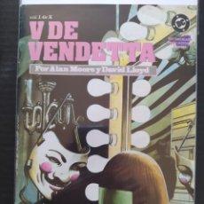 Cómics: DESCATALOGADO ZINCO- V DE VENDETTA - ALAN MOORE - DAVID LLOYD - #1 -1988-MUY BUEN ESTADO. Lote 222116223