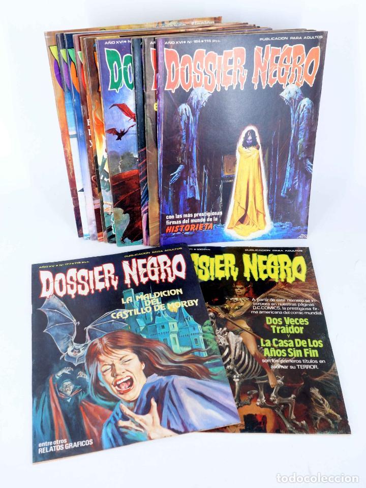 DOSSIER NEGRO. LOTE DE 13 (VVAA) ZINCO / GIESA, 1983. VER LISTA. OFRT (Tebeos y Comics - Zinco - Otros)