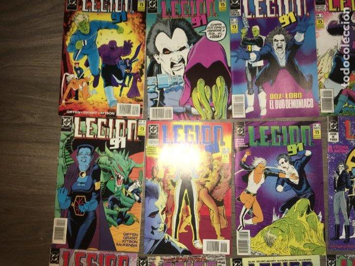 Cómics: Lote 15 ejemplares legion 91, del 1 al 15. bien conservados. ediciones zinco. fotos - Foto 3 - 223321826
