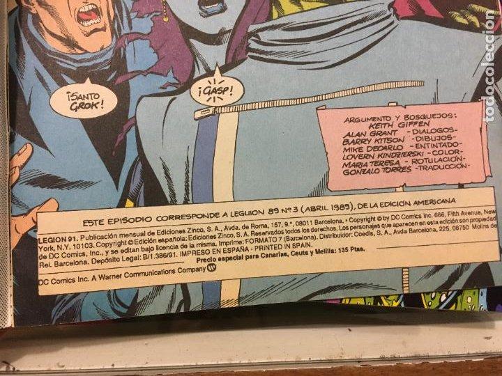 Cómics: Lote 15 ejemplares legion 91, del 1 al 15. bien conservados. ediciones zinco. fotos - Foto 6 - 223321826