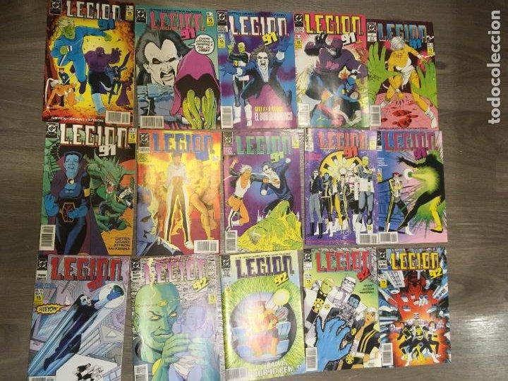 LOTE 15 EJEMPLARES LEGION 91, DEL 1 AL 15. BIEN CONSERVADOS. EDICIONES ZINCO. FOTOS (Tebeos y Comics - Zinco - Legión 91)