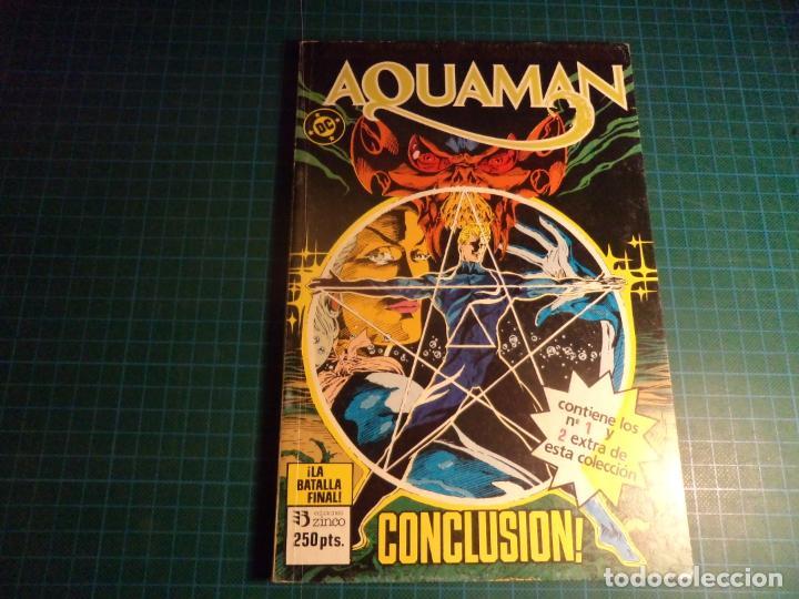 AQUAMAN. RETAPADO. CONTIENE LOS NUMEROS 1 Y 2 EXTRA DE LA COLECCION. (S3) (Tebeos y Comics - Zinco - Retapados)