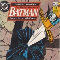 Cómics: CÓMIC DC LAS MUCHAS MUERTES DE BATMAN CAP.1º Nº 33 ED. ZINCO (BYRNE, APARO, DECARLO). Lote 223943356