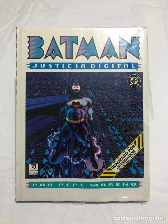 BATMAN: JUSTICIA DIGITAL - PEPE MORENO - TAPA DURA Y SOBRECUBIERTA - ZINCO 1990. NUEVO PRECINTADO. (Tebeos y Comics - Zinco - Batman)