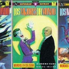 Cómics: SUPERMAN Y BATMAN LOS MEJORES DEL MUNDO POR DAVE GIBBONS Y STEVE RUDE. COMPLETA TRES TOMOS. Lote 223997345