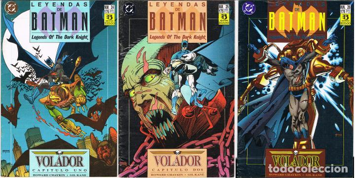 LEYENDAS DE BATMAN. VOLADOR POR HOWARD CHAYKIN Y GIL KANE. COMPLETA TRES COMIC-BOOKS (Tebeos y Comics - Zinco - Batman)
