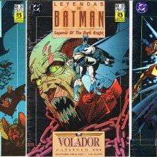 Comics: LEYENDAS DE BATMAN. VOLADOR POR HOWARD CHAYKIN Y GIL KANE. COMPLETA TRES COMIC-BOOKS. Lote 224062042
